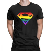 "Load image into Gallery viewer, Pride ""Super"" Gay T-Shirt"