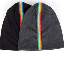 Load image into Gallery viewer, Rainbow Striped Beanies Unisex