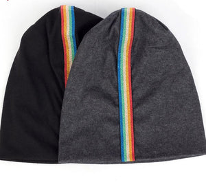 Rainbow Striped Beanies Unisex