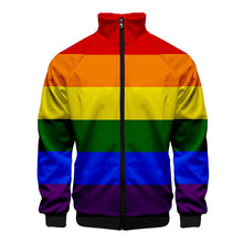 Load image into Gallery viewer, Pride Flag Zip Up Jacket