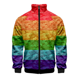 Pride Flag Zip Up Jacket