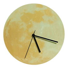 Load image into Gallery viewer, Glowing Moon Wall Clock