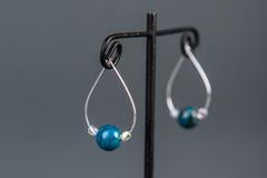 Blue Picasso Hoop Earrings