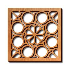 Frank Lloyd Wright Trivet - Flower Circles