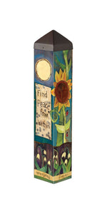"Find Peace (20"" Art Pole)"