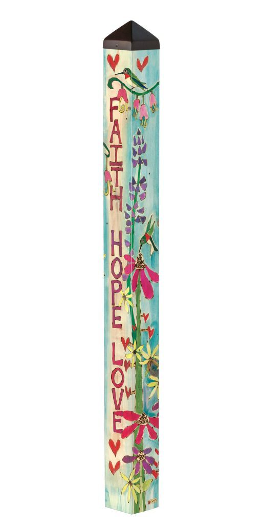 Faith, Hope And Love (4' Art Pole)