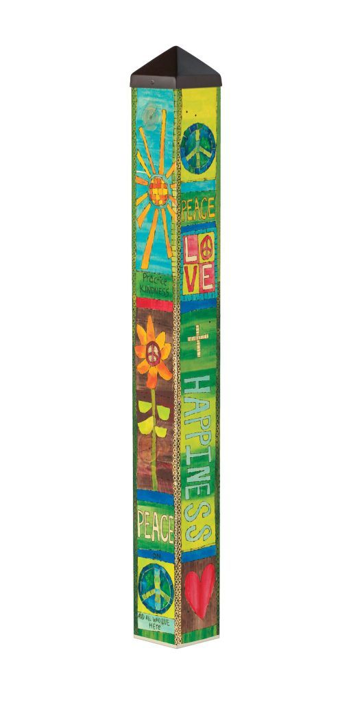 Peace and Love (3' Art Pole)