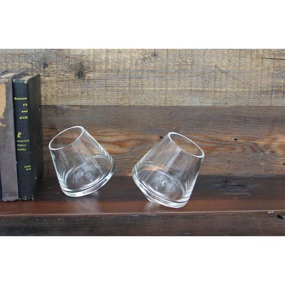 Pair of Revolving Wine Glasses