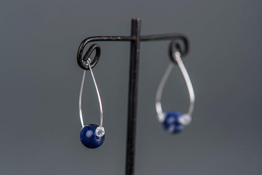 Sodalite Hoop Earrings