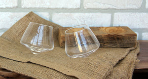 Tad Wine Glass Pair and Barn-wood Stand (Purchased Separately)