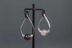 Tourmalated Quartz Hoop Earrings