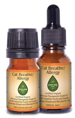 Cat Breathe/Allergy Combo Pack w/Collar Diffuser & Travel Case