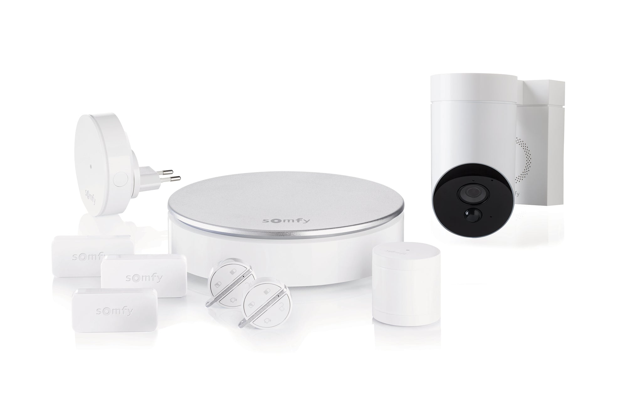 SOMFY PROTECT HOME ALARM + OUTDOOR CAMERA - WHITE
