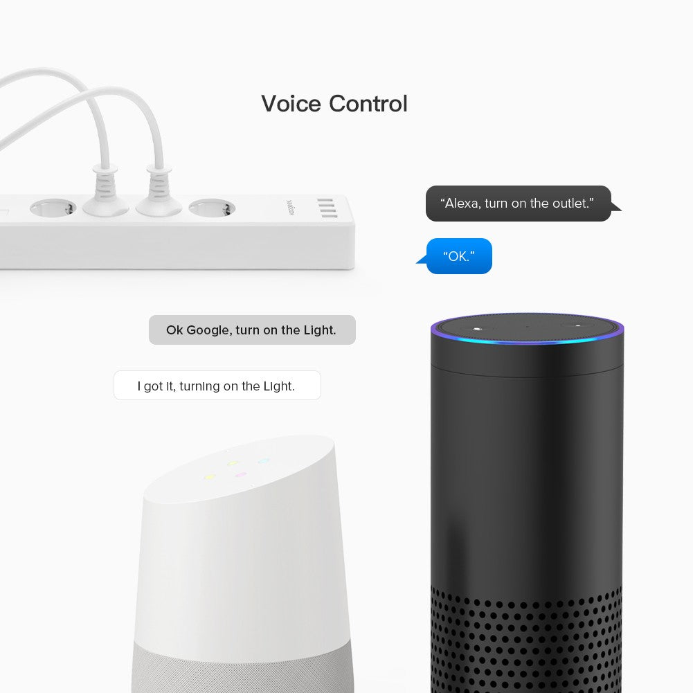 Koogeek Multi Outlet - Amazon Alexa & Google Assistant KLOE4