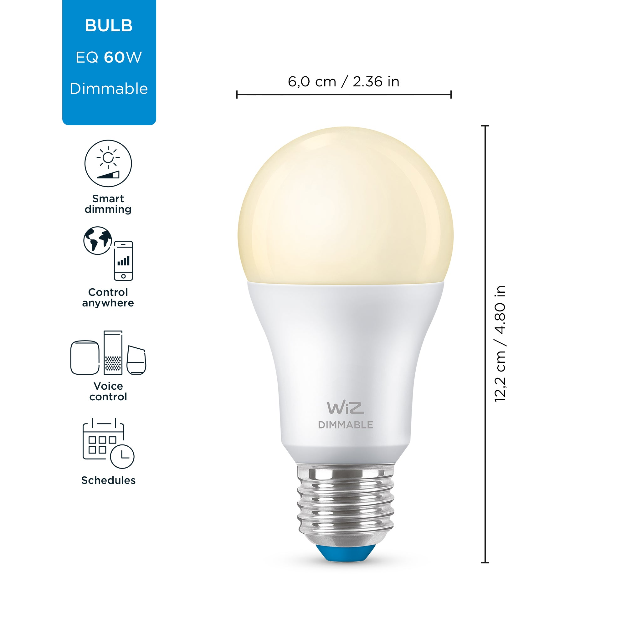 WiZ Dimmable White Wi-Fi A60 E27