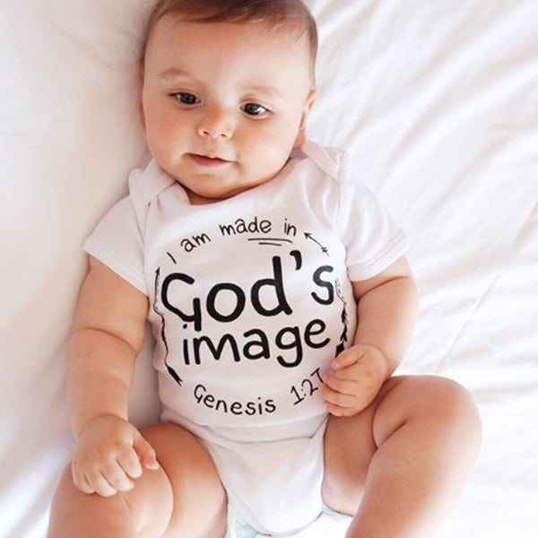 Made in God's image Baby Christian Onesie