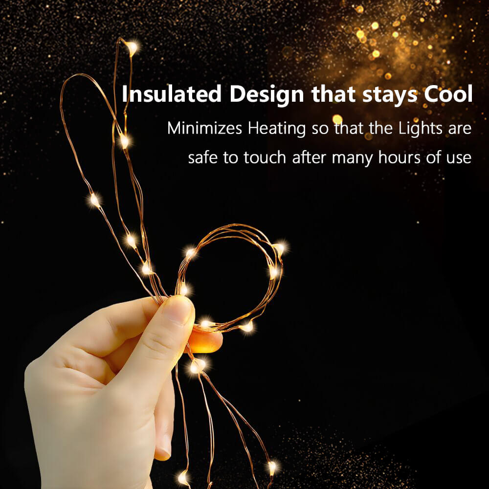Warm White Battery Operated String Lights - glodd.com