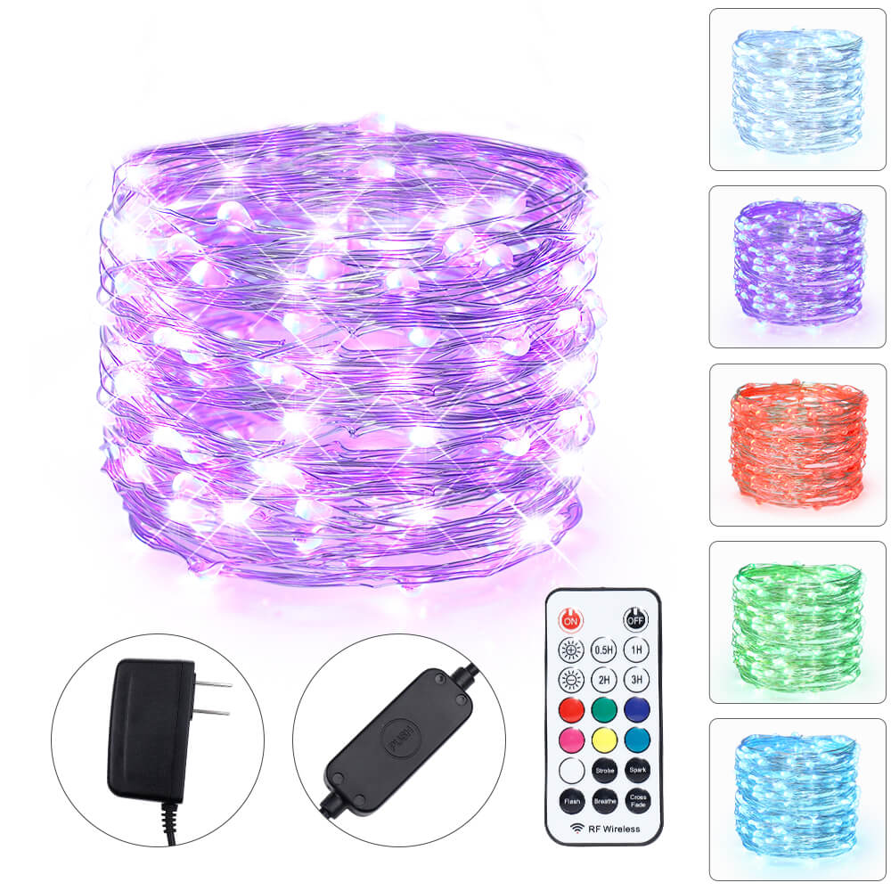 Multi-colored Bedroom Fairy Lights with Remote Control - glodd.com