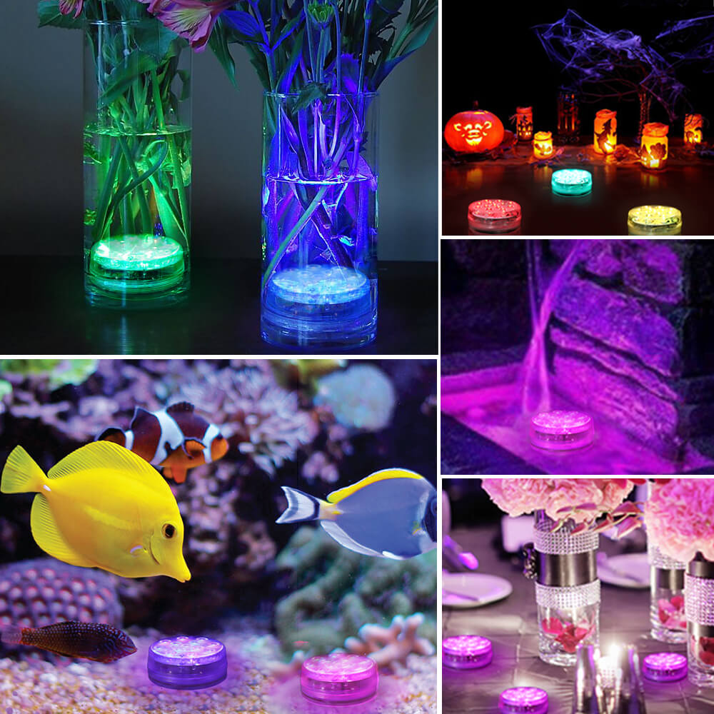 IP68 Waterproof Suction Cups Submersible LED Lights (4 Pack) | GLODD - glodd.com