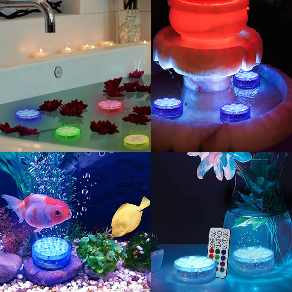 Swimming Pool Lights with Magnets & Suction Cups