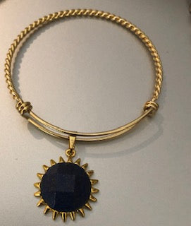 Ricyra Sun Gemstone Pendant Bangle