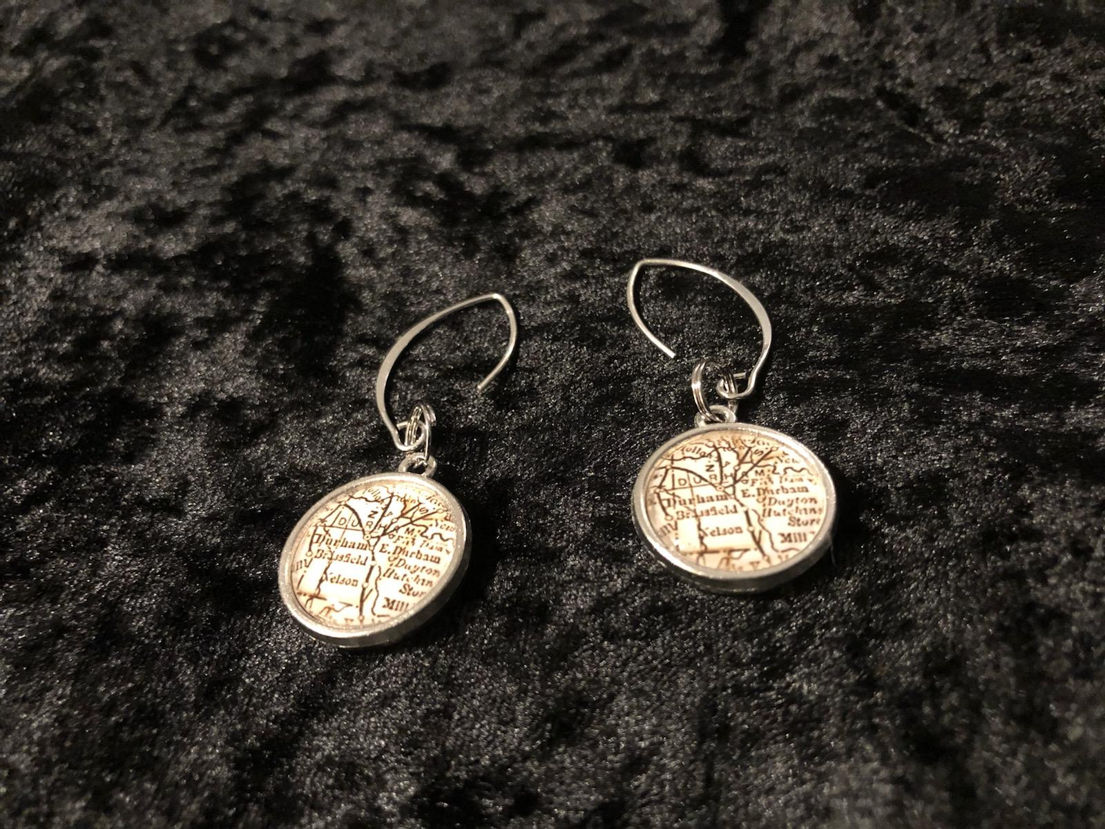 Durham (Adshusheer) Map Earrings