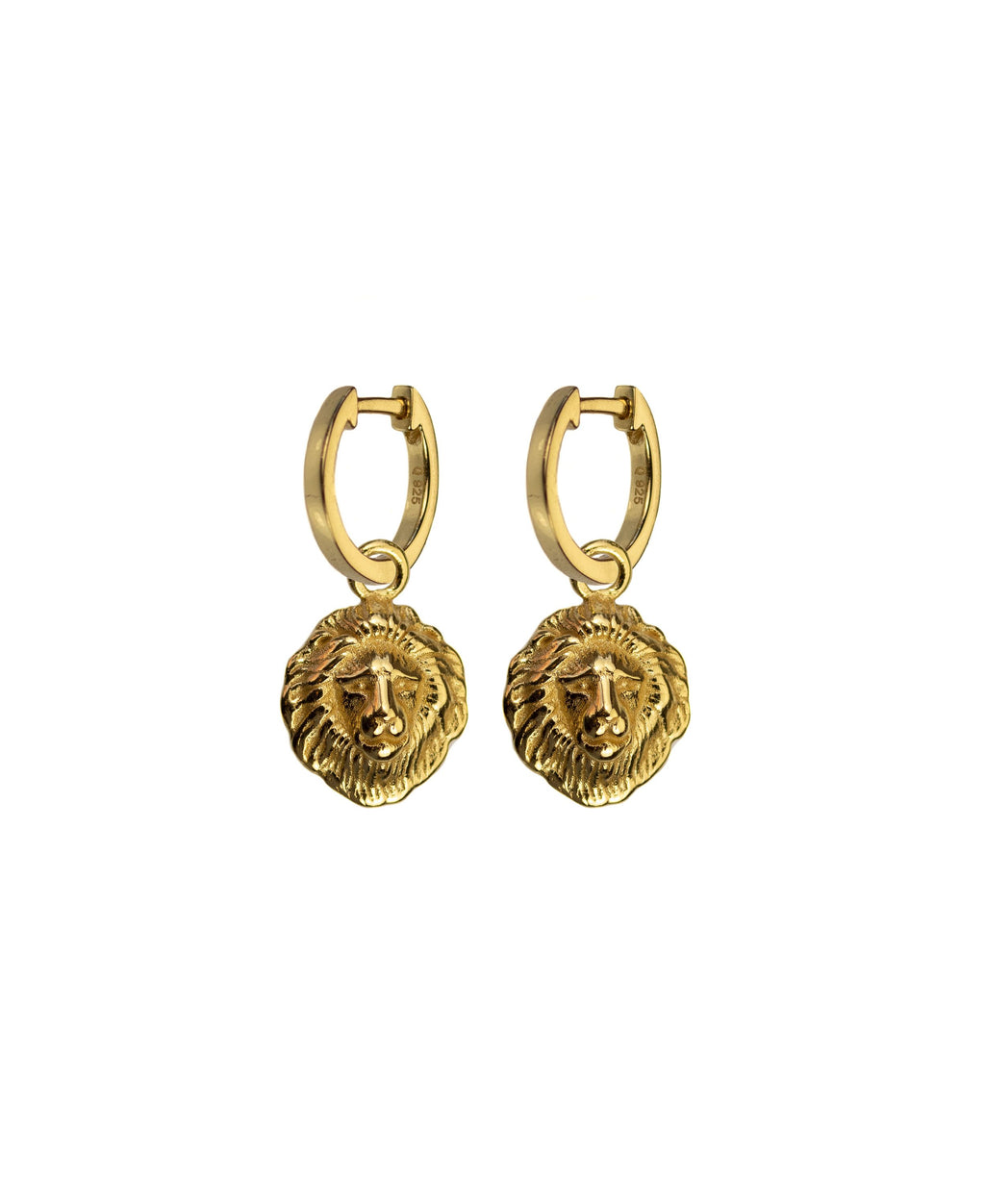 Lions Head Earrings