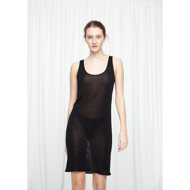 Basic Mulberry Silk Slip Dress - Sort