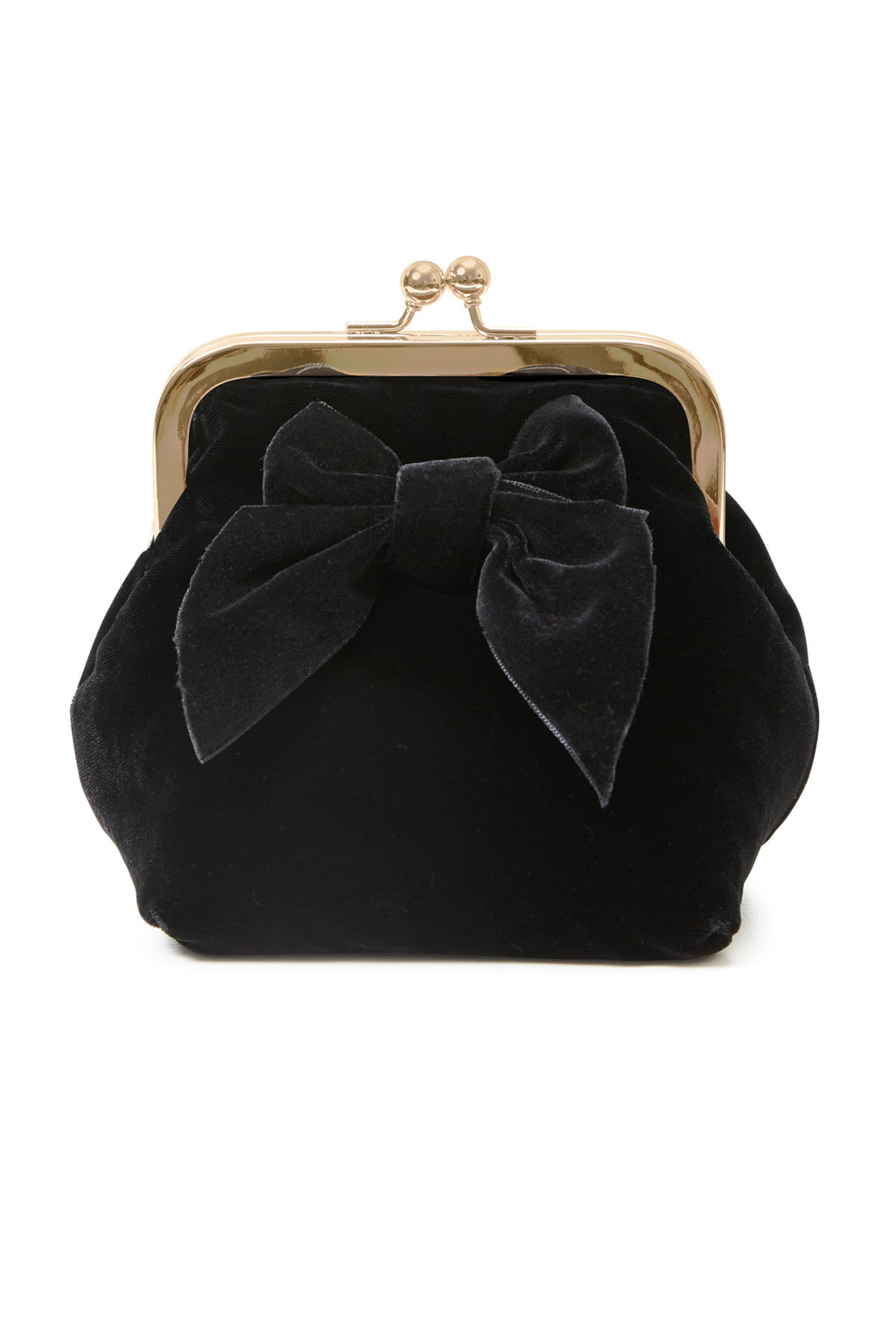 Sonja Love velour clutch - Sort
