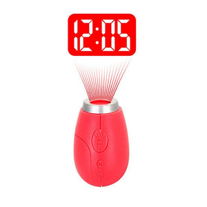 Mini Portable LED Projection Clock With Keyring-Shopplicity