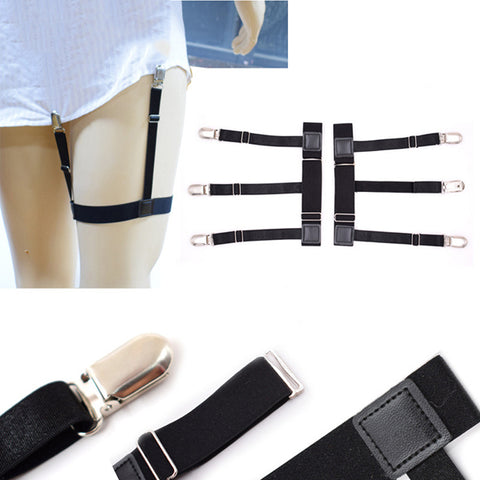 Shirt Stay Adjustable Leg Suspenders