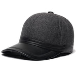 Artificial Leather Baseball Cap-Shopplicity