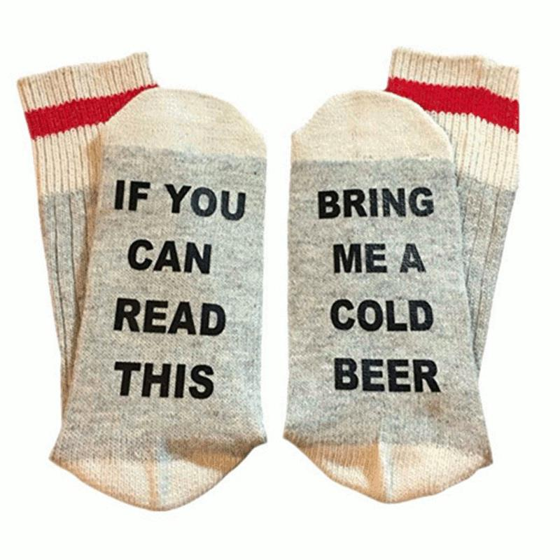 """IF YOU CAN READ THIS"" Humor Socks-Shopplicity"
