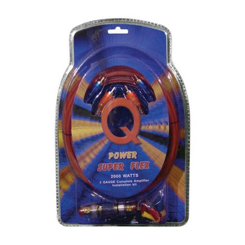 Qpower 8 Gauge Amp Kit Super Flex