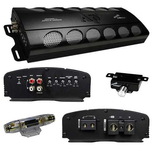 Audiopipe 1800W Class D amplifier overload/overheat protection remote woofer volume control