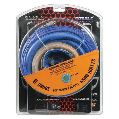 Orion Cobalt Complete 0 Gauge Amp Kit Oversize Wire (6500 Watts)