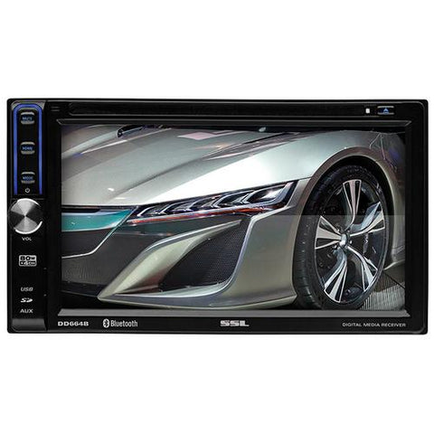 "Soundstorm 6.2"" Double Din Touchscreen Receiver Bluetooth Aux/USB/SD"