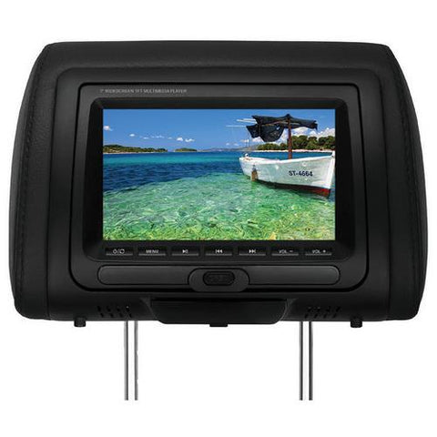 "Boss 7"" Headrest Monitor DVDUSB/SD Remote 3 Color skins"
