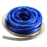Pipeman 4 Gauge amp kit Blue/Silver wire AFC fuse