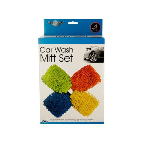 Super Soft Car Wash Mitt Set ( Case of 4 )