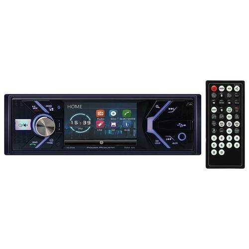 "Power Acoustik 3.4"" Single Din Receiver with Bluetooth"