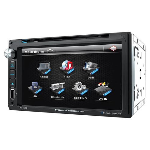 Power Acoustik Double Din AM/FM/DVD/BT 6.5""