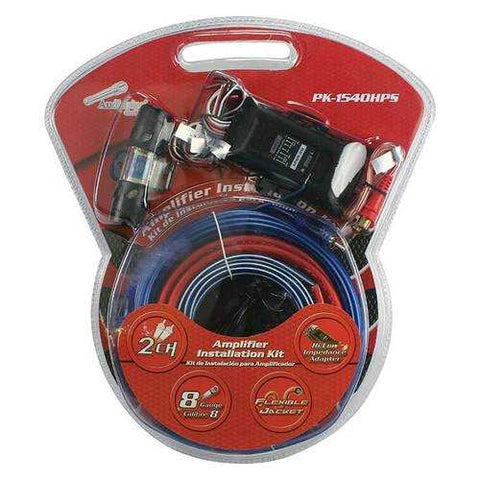 Audiopipe Complete 8 Gauge Amp kit with Line Out Converter