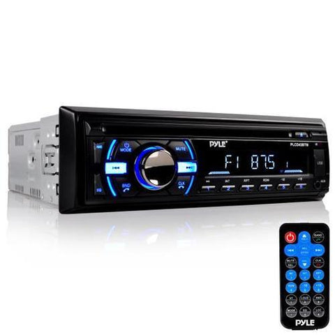 Marine Bluetooth Stereo Radio Headunit Receiver, Hands-Free Call Answering, CD Player, MP3/USB/SD Readers, Single DIN