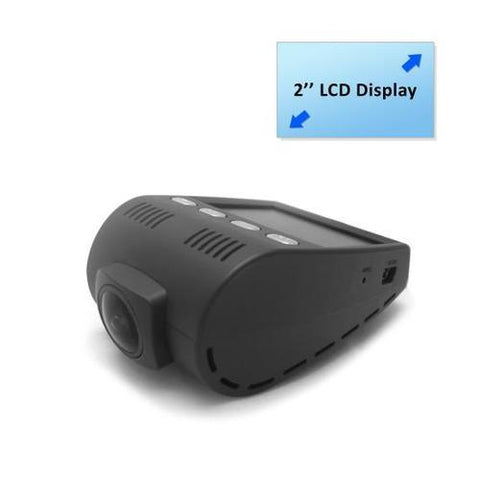 DVR Video Recording Dash Cam, Micro SD Memory Slot, 2.0'' Monitor Display