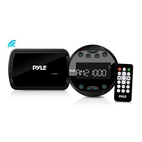 Bluetooth Marine Stereo Radio Receiver System, Water-Resistant/Weatherproof, LCD Display, MP3/USB Reader, AM/FM Radio, Remote Control