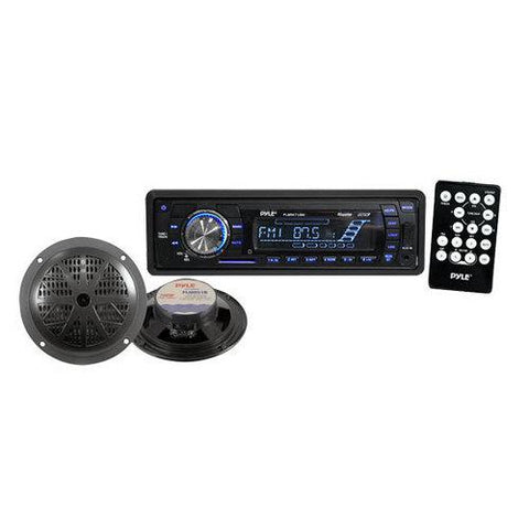 In-Dash Marine AM/FM PLL Tuning Radio w/ USB/SD/MMC Reader