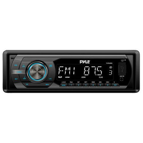 In-Dash AM/FM-MPX Detachable Face Receiver With MP3 Playback & USB/SD/Aux Inputs