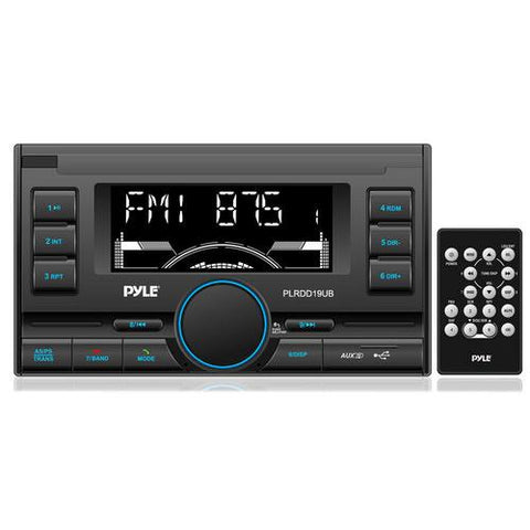 Bluetooth Digital Receiver with USB/SD Card Readers, AM/FM Radio, AUX Input, Remote Control, Double DIN