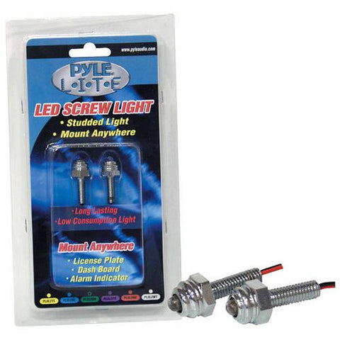 Pyle Lite Series Yellow LED Screw Light